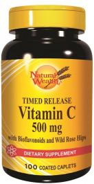 Natural Wealth, vitamin C s podaljšanim sproščanjem, 100 tablet