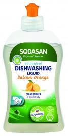 Sredstvo za ročno pranje posode oranža Sodasan, 500 ml