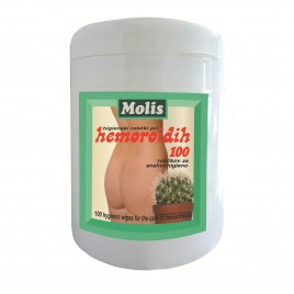 Robčki za higieno pri hemoroidih Molis, 100 kom