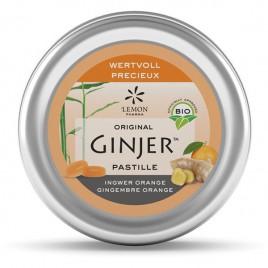 Bio ingverjeve pastile z okusom pomaranče, 40 g