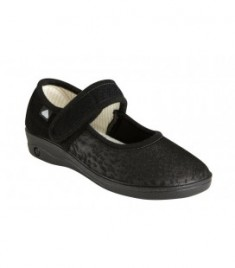 Copati 303 F Jasmine Lycra, za občutljiva in široka stopala, črni