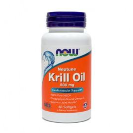 Now, neptunovo krilovo olje, 500 mg, 60 mehkih kapsul
