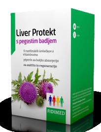 Fidimed, Liver Protekt s pegastim badljem, 60 kapsul