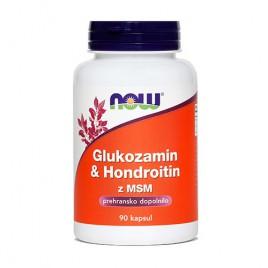 Now, glukozamin & hondrotin z MSM, 760 mg, 90 kapsul