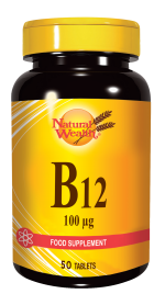 Natural Wealth, vitamin B12, 100 mcg, 50 tablet