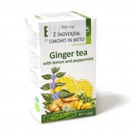 Bio čaj z ingverjem, limono in meto, 30 g