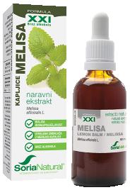 Soria Natural, melisa XXI kapljice brez alkohola, 50 ml