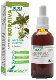 Soria Natural Kopriva XXI kapljice brez alkohola, 50 ml
