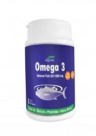 Algena, omega 3 naravno ribje olje z dodanim vitaminom E, 100 kapsul