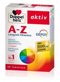 Doppelherz aktiv, aktiv A - Ž s počasnim sproščanjem, 40 tablet