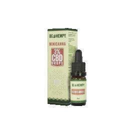 Be hempy, MiniCanna konopljine kapljice CBD 3 %, 10 ml