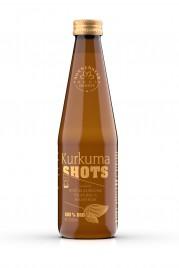 Bio napitek Shots s koščki kurkume in ingverja, 330 ml