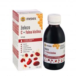 Medex, sirup železo C + folna kislina, 150 ml
