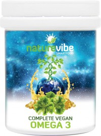 NatureVibe, complete vegean omega 3, 30 kapsul