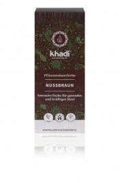 Rastlinska barva za lase Lešnik Khadi, 100 g