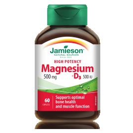 Jamieson, magnezij 500 mg + D3 500 i.e., 60 tablet