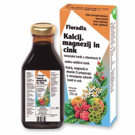Floradix, kalcij, magnezij, cink, 250 ml