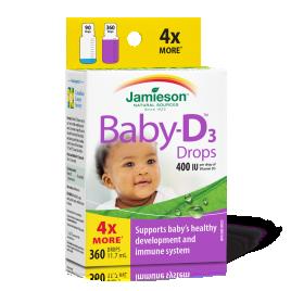 Jamieson baby-D vitamin D3 kap 11.7ml