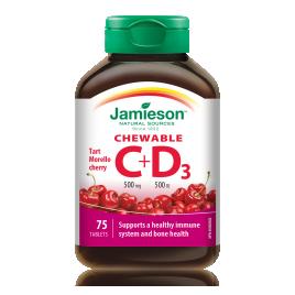 Jamieson vitamin C+D bonbon 75x