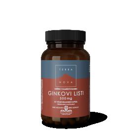 Terranova, ginkovi listi, 500 mg, 50 kapsul