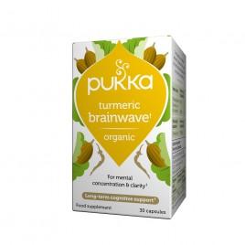 Pukka, kurkuma turmeric Brainwave, 30 kapsul