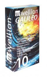 WELLION GALILEO CHOL TESTNI LISTIČI ZA MERJENJE HOLESTEROLA TEST 10X