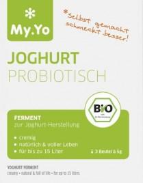 Bio Fermenti za pripravo jogurta (probiotik), 3 x 5 g
