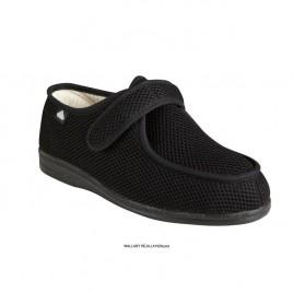 Čevlji Wallaby Rejilla, obutev za občutljiva in široka stopala, črni