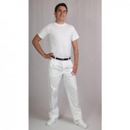 Bele moške hlače na pas Rene