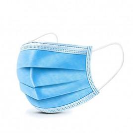 Maska kirurška z elastiko modra IIR trislojna, 50 kom