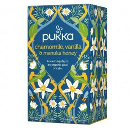 Čaj Kamilica, vanilija in manuka med Pukka, 20 čajnih vrečk