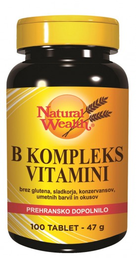 Natural Wealth, vitamini B kompleks, 100 tablet