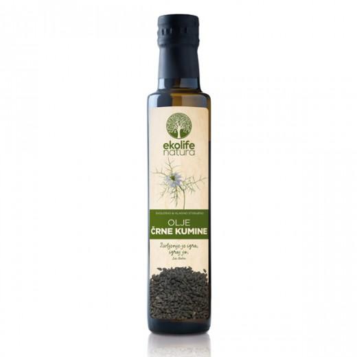 Ekološko olje črne kumine Ekolife natura, 250 ml