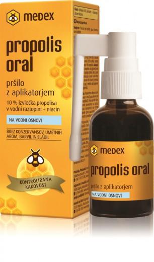 Medex, propolis oral na vodi osnovi, pršilo z aplikatorjem, 30 ml