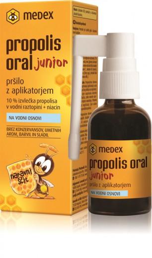 Medex, propolis oral junior, pršilo z aplikatorjem, 30 ml