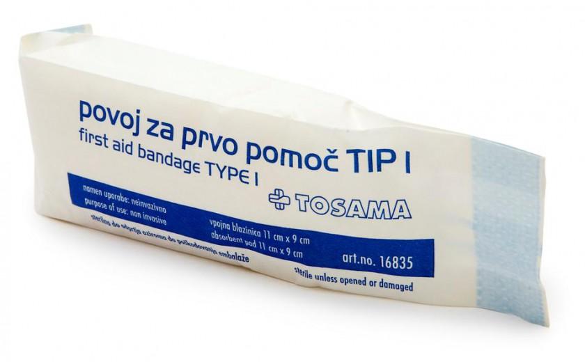 Povoj za prvo pomoč tip I sterilen
