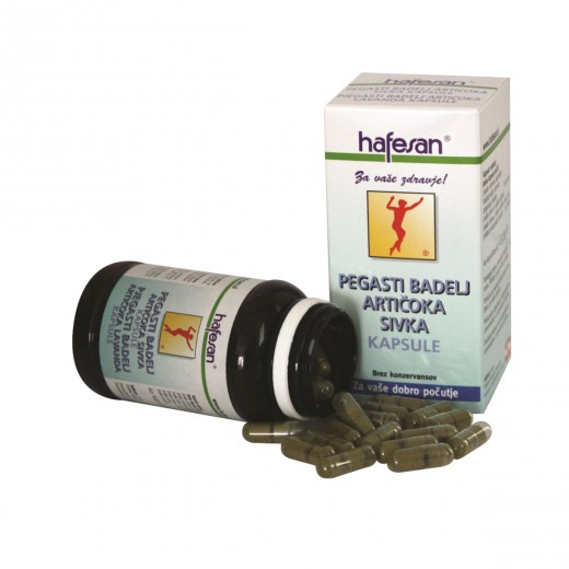 Hafesan, pegasti badelj + artičoka + sivka, 60 kapsul