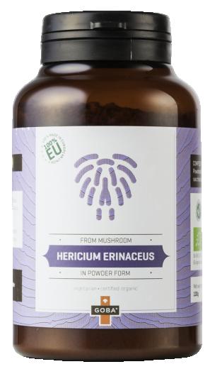 Goba®, resasti bradovec ( Hericium erinaceus ), prah, 100 g
