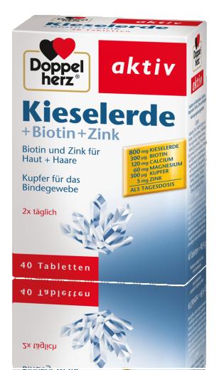 Doppelherz aktiv, silicijeva prst + biotin + cink, 40 tablet