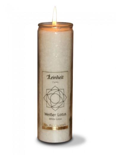 Bela čakra ali white lotus sveča