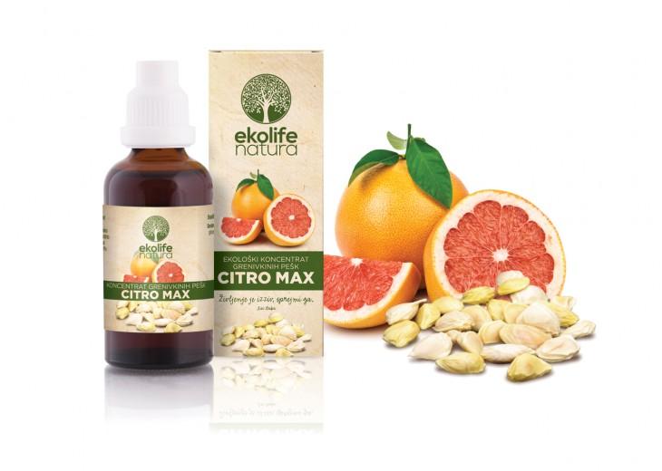 Ekolife natura, citro max ekološki koncentrat genivkinih pešk, 50 ml