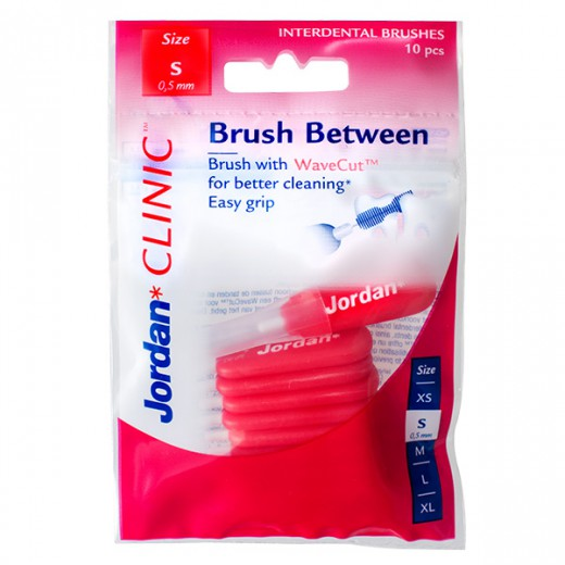 Medzobne ščetke Jordan Clinic Brush Between S, 10 kom