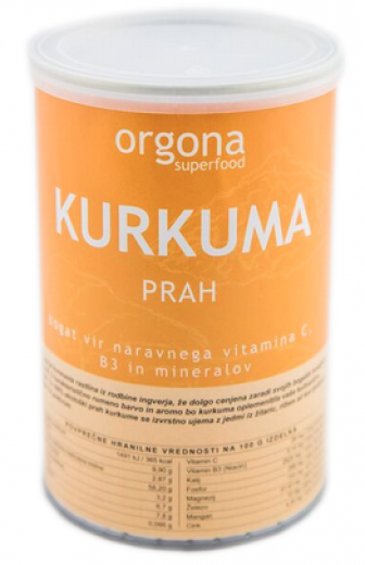 Bio kurkuma prah Orgona SuperFood, 150 g