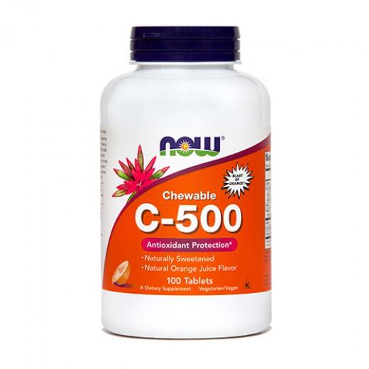 Now, vitamin C - 500, 100 žvečljivih tablet