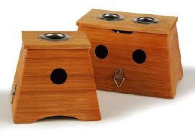 Dvojna lesena škatla Moksa