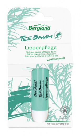 Stik za ustnice s ČAJEVCEM TEEBAUM Bergland, 4,8 g