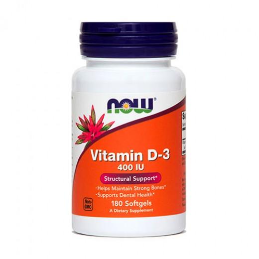 Vitamin D-3 Now, 180 mehkih kapsul