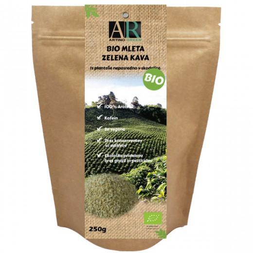 Bio mleta zelena kava, 250 g