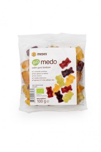 Bio medo sadni gumi bonboni Medex, 100 g