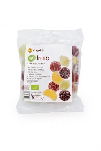 Bio fruto sadni žele bonboni Medex, 100 g